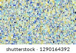 colorful chaotic pattern for... | Shutterstock . vector #1290164392