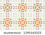 colorful mosaic seamless... | Shutterstock . vector #1290165325