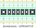 colorful horizontal pattern for ... | Shutterstock . vector #1290165715