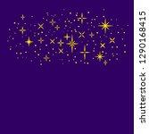 golden shiny magical cartoon...   Shutterstock .eps vector #1290168415