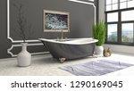 bathroom interior. 3d... | Shutterstock . vector #1290169045