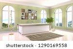 bathroom interior. 3d... | Shutterstock . vector #1290169558