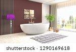 bathroom interior. 3d... | Shutterstock . vector #1290169618