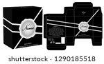 packaging design  perfume... | Shutterstock .eps vector #1290185518