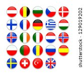 set of buttons for european... | Shutterstock . vector #129019202