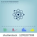 pictograph of atom | Shutterstock .eps vector #1290207508