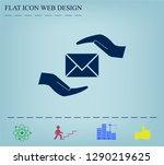 insurance correspondence icon... | Shutterstock .eps vector #1290219625