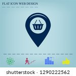 map pointer with a shopping... | Shutterstock .eps vector #1290222562