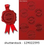 wax seal   satisfaction... | Shutterstock .eps vector #129022595