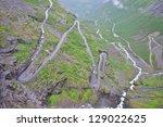 Trollstigen mountain road in Norway - stock photo