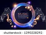 music event shining banner with ... | Shutterstock .eps vector #1290228292