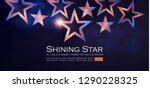 elegant stars background with... | Shutterstock .eps vector #1290228325