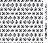 seamless pattern with soccer ... | Shutterstock .eps vector #1290229558