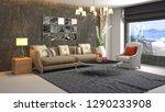 interior of the living room. 3d ... | Shutterstock . vector #1290233908