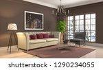 interior of the living room. 3d ... | Shutterstock . vector #1290234055