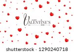 happy valentines day greeting... | Shutterstock .eps vector #1290240718