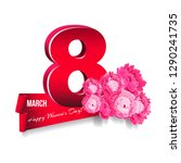 floral banner march 8... | Shutterstock .eps vector #1290241735
