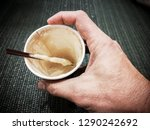 cappuccino coffee in a glass of ... | Shutterstock . vector #1290242692