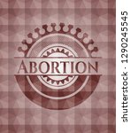 abortion red geometric badge.... | Shutterstock .eps vector #1290245545