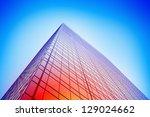 colorful glass building facade | Shutterstock . vector #129024662