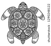 abstract turtle. carved turtle. ... | Shutterstock .eps vector #1290248122