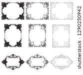 rococo vector set of vintage... | Shutterstock .eps vector #1290250942