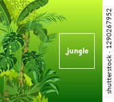 background with jungle plants.... | Shutterstock .eps vector #1290267952