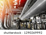 equipment  cables and piping as ... | Shutterstock . vector #1290269992