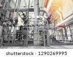 industrial steel pipelines ... | Shutterstock . vector #1290269995