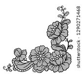 lace ornamental decoration with ... | Shutterstock .eps vector #1290271468