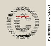 copyright symbol concept | Shutterstock .eps vector #129027335