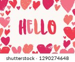 valentine's day greeting card... | Shutterstock .eps vector #1290274648