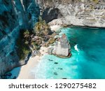 turquoise waters  white sand... | Shutterstock . vector #1290275482