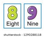printable flash card collection ... | Shutterstock .eps vector #1290288118