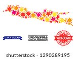 mosaic map of java island... | Shutterstock .eps vector #1290289195