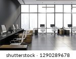 interior of modern office with... | Shutterstock . vector #1290289678
