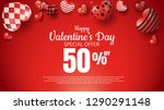 happy valentines day promotion...   Shutterstock .eps vector #1290291148