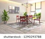 interior dining area. 3d... | Shutterstock . vector #1290293788
