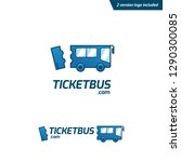 ticket bus logo  fun and... | Shutterstock .eps vector #1290300085