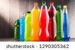 plastic bottles of assorted... | Shutterstock . vector #1290305362