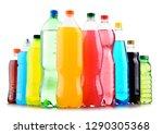plastic bottles of assorted... | Shutterstock . vector #1290305368
