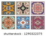 set of traditional kalamkari... | Shutterstock .eps vector #1290322375