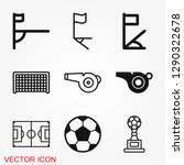 foot ball  soccer icon sport... | Shutterstock .eps vector #1290322678