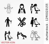 hairdresser icon logo ... | Shutterstock .eps vector #1290323155