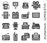 retro multimedia flat simple... | Shutterstock .eps vector #1290323725
