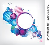 abstract modern banner with... | Shutterstock .eps vector #129032792