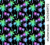 seamless pattern with palm... | Shutterstock .eps vector #1290340972