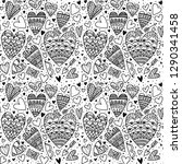 beautiful pattern with doodle... | Shutterstock .eps vector #1290341458