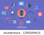 podcast concept. idea of... | Shutterstock .eps vector #1290349615