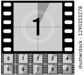 Countdown Frames. Retro Film...